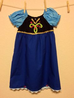 Anna Everyday Princess Dress  MADE TO ORDER  by twosnugglebugs, $42.00