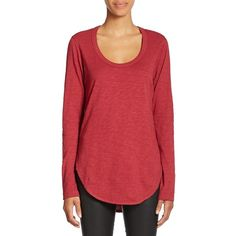Wilt Long-Sleeve Shirttail Top ($121) ❤ liked on Polyvore
