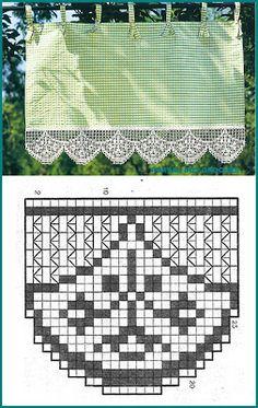Crochet Spouts for Kitchen Flock Filet Crochet, Crochet Doily Diagram, Crochet Lace Edging, Crochet Borders, Crochet Doilies, Crochet Stitches, Crochet Patterns, Crochet Edgings, Crochet Waistcoat