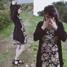 Anna Garavello - Chiffon Cardigan, Dresslink Flowered Dress, Platform Sandals…