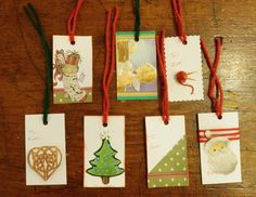 Come in Saturday, December 15th to make these fun gift tags using left over holiday cards, card stock and fun crafty items!