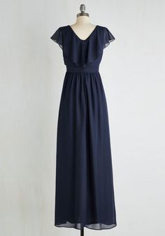 Always on the Movement Dress. The captivating sway of this elegant navy maxi boasts effortless on-the-go glam! #blue #prom #modcloth