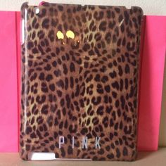 PINK iPad Snap-On Cheetah Case Snap on cheetah/leopard case from PINK! Comes in original packaging, never used! Tags are attached. Perfect Christmas gift for the tech-savvy PINK girl! Fits iPad 3 PINK Victoria's Secret Accessories Tablet Cases