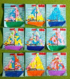 Summer Crafts For Kids, Spring Crafts, Projects For Kids, Art For Kids, Art Projects, Spring Art, Summer Art, Kindergarten Art, Preschool Crafts