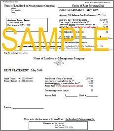 Rent Statement Mailer Rent Being A Landlord Mailer
