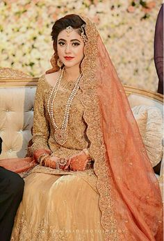 Muslim Wedding Dress In India Desi Bride, Desi Wedding, Asian Bridal Dresses, Bridal Outfits, Pakistani Wedding Dresses, Pakistani Outfits, Bridal Looks, Bridal Style, Braut Shirts