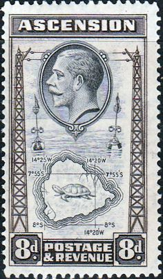 Ascension Islands Stamps 1934 King George V SG 26 Three Sisters  Fine Mint Scott 26  Other Ascension Island Stamps HERE