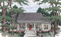 Ten-Foot Ceilings, Lots of Closets - 62002V   Country, Traditional, 1st Floor Master Suite, Butler Walk-in Pantry, CAD Available, PDF, Corner Lot   Architectural Designs