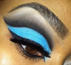 Check out this eye makeup design from Rite Aid's #EyeExtravaganza! Do you have what it takes to win? Enter now! http://eyes.riteaid.com/entry/turquoise-cut-crease/ #makeup #eyeshadow #eyes