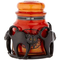 Yankee Candle Cat Jar Holder With 1 X Classic Medium Jar Candy Corn (3.015 RUB) ❤ liked on Polyvore featuring home, home decor, halloween home decor, ceramic jar, yankee candle, cat home decor and ceramic home decor