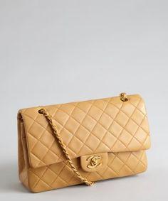 d882e328f641 Chanel   tan matelisse leather vintage classic shoulder bag