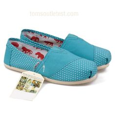 Lake blue toms shoes