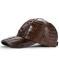 830192cdded48c Alligator Skin Hat, Crocodile Skin Hat-Brown Crocodile Skin, Men's Jacket,  Baseball