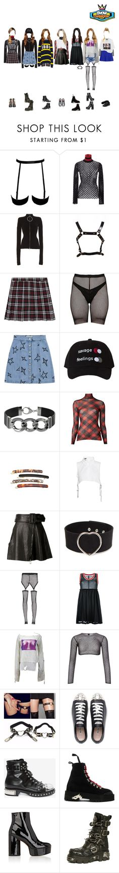 """""""(Melody) Karma at Show Champion"""" by k-p0p101 ❤ liked on Polyvore featuring Alexander Wang, Emilio Pucci, Dora Mojzes, Être Cécile, Pluma, Jean-Paul Gaultier, France Luxe, Ann Demeulemeester, Carven and Bohemian Society"""