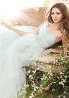 Jim Hjelm - Strapless Ball Gown, Natural Waist, Floor Length Gown with Tulle