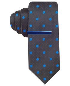 Alfani RED Tie, Tempe Dot with Tie Bar - Ties - Men - Macys