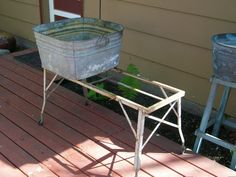 Vintage Wash Tub Stand Metal Collapsible by RedRiverAntiques, $125.00