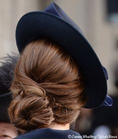 Kate's Chignon at National Service of Commemoration March 13 2015 James Whatling/Splash News