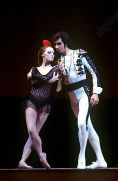 Maya Plisetskaya as Carmen and Sergei Radchenko as Toreador in a scene from Act 2 of Rodion Shchedrin's ballet Carmen Suite staged at the State Academic Bolshoi Theater of the USSR.