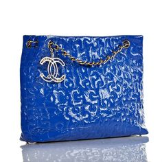 Chanel Electric Blue Patent Leather Puzzle Tote Bag, Sold Out in Stores 309ca1f1c7