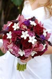 picture of bridal bouquets with burgandy flowers - Bing Images