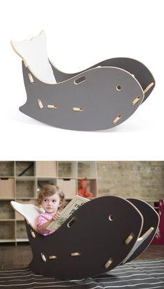Whale rocking chair