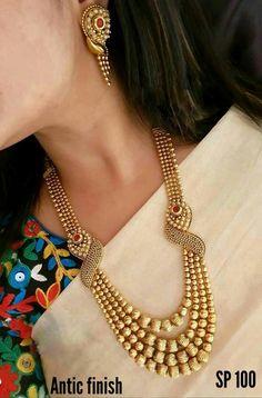 Gold Jewellery Design, Gold Jewelry, Wedding Jewellery Gold, Temple Jewellery, Jewellery Box, Saree Jewellery, Punk Jewelry, Jewellery Shops, High Jewelry