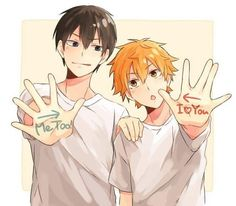 Kagehina🧡🖤 Really bad but idc - - - - School is tomorrow and that means homework and that means no time to edit. - - - - Tags to ignore kagehina kagehinaedit kenhina haikyuu haikyuuedit hinatashoyo hinata kageyama kageyamatobio edit animeedit Haikyuu Kageyama, Kagehina, Daisuga, Haikyuu Anime, Hinata Shouyou, Tsukiyama Haikyuu, Otaku Anime, Anime Boys, Lgbt Anime