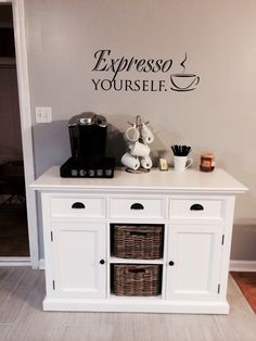 My kitchen coffee nook