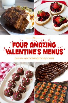 Be the BEST Valentine ever! Use one of these four plans to make an AMAZING meal at home! #valentine's #pressurecooking #instantpot via @pressurecook2da/