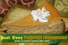 Easy & Best Ever Pumpkin Cheesecake recipe *YUM* #cheesecake  #fallrecipes