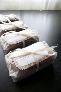 How to gift wrap banana bread