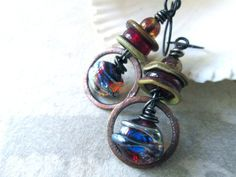 MAELSTROM II Urban Primitive Dangle Lampwork by MangledMuttStudios