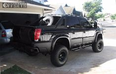 Wheel Offset 2002 Chevrolet Avalanche 2500 Aggressive 1 Outside Fender Suspension Lift 6 Custom Rims Offroad Led Bars 2007 Chevy Avalanche, Avalanche Truck, Lifted Avalanche, Chevrolet 4x4, Chevy 4x4, Gm Trucks, Chevy Trucks, Rough Country Suspension, Truck Camper