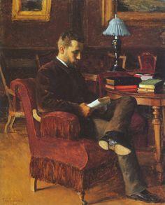 Portrait of Arvid Järnefelt, 1888 by Eero Järnefelt I Love Books, Good Books, Books To Read, People Reading, How To Read People, Reading Art, World Of Books, Lectures, Beautiful Artwork