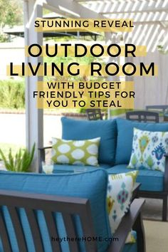 How we created an outdoor space that has become a true extension of our home with budget friendly DIY projects. This outdoor decor is perfect for summer entertaining.