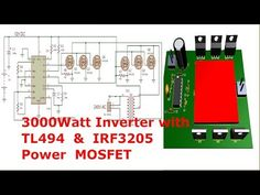 How to make a power inverter for easy at home Power Supply Circuit, Class D Amplifier, Electronic Schematics, Sine Wave, Free To Use Images, Circuit Diagram, High Quality Images, Arduino, Science And Technology