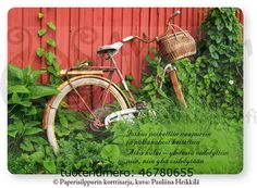 Unohtunut polkupyörä Finnish Words, Watering Can, Wells, Cottages, Canning, Cabins, Country Homes, Cottage, Home Canning