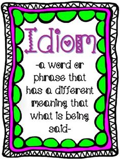 Idiom Sort (Free Anchor Chart in Preview)