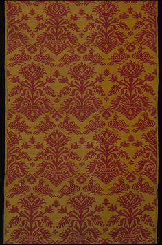 Woven silk, 1550-1600, possibly Italian.