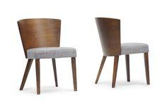 Baxton Studio Sparrow Brown Wood Modern Dining Chair (Set of 2) | Interior Express