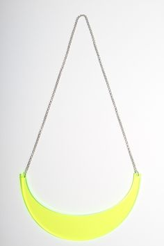 Laser-cut Neon Green Acrylic Necklace by MASCHARI on Little Paper Planes
