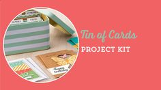 Tin of Cards Project Kit by Stampin' Up!  To purchase, go to http://kmaurer.stampinup.net
