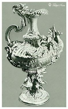 A Silver Peace From King Farouk's Collection; Got Sold at Sotheby's Auction Hall In 1954.