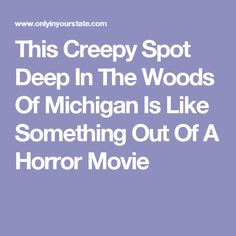 This Creepy Spot Deep In The Woods Of Michigan Is Like Something Out Of A Horror Movie