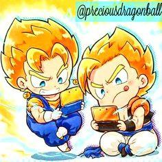 Precious Gogeta and Vegito  I wonder what they are playing  ________________________________________  Tags  :#   #dragonballsuper#dragonball#dragonballkai#dragonballz#dbsuper#dbs#dbz#gogeta#blackgoku#helles#goten#whis#beerus#goku#gohan#vegeta#vados#bulma#gokublack#trunks#zamasu#zeno#multiverse#broly#vegito#vegetto#champa#dokkanbattle#cabba#dragonballheroes