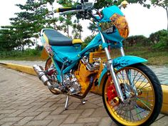 Satria Fu, Drag Bike, Mickey Mouse, Racing, Motorcycle, Vehicles, Collage, Fire, Michey Mouse