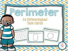 Differentiated perimeter task cards! Perfect for math centers!