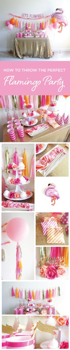 Party box for everything you need to throw a perfect Flamingo themed party! Let's flamingle!