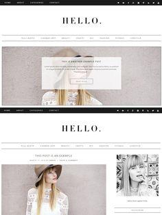 Hello - Wordpress Theme. WordPress Blog Themes. $35.00